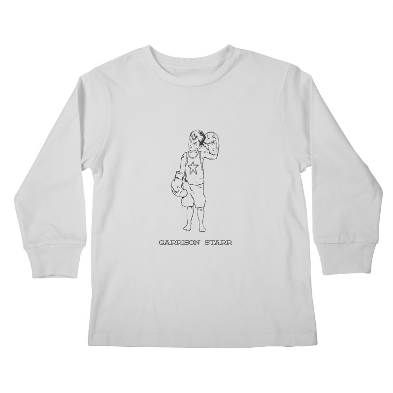 Amateur Boy - All Black Kids Longsleeve T-Shirt by Garrison Starr's Artist Shop