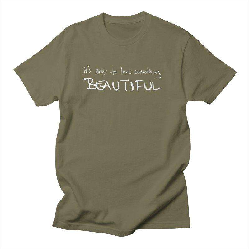 Hollow Lyric - Light Grey Men's T-Shirt by Garrison Starr's Artist Shop