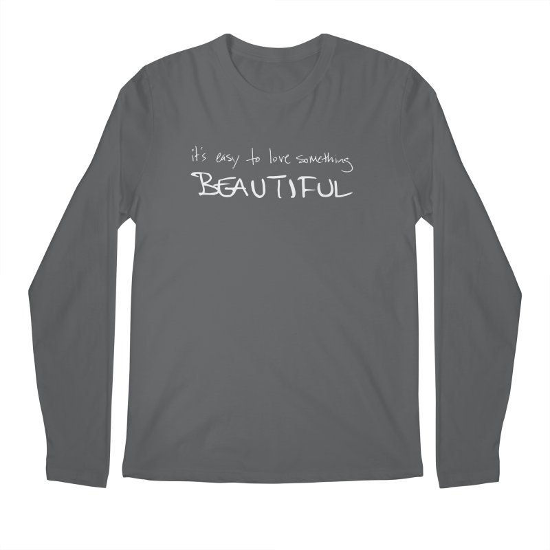 Hollow Lyric - Light Grey Men's Longsleeve T-Shirt by Garrison Starr's Artist Shop