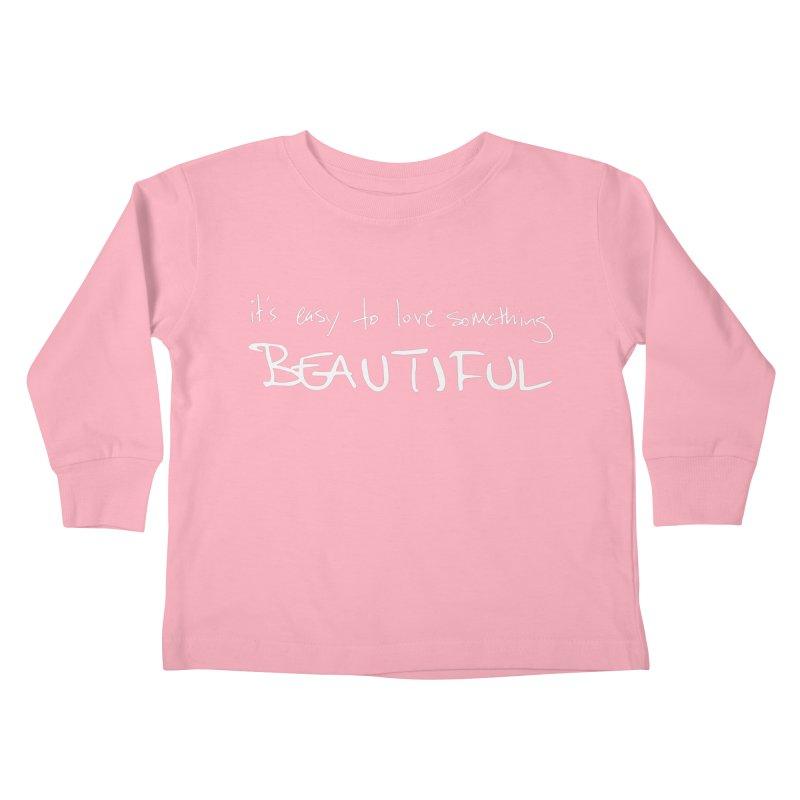 Hollow Lyric - Light Grey Kids Toddler Longsleeve T-Shirt by Garrison Starr's Artist Shop