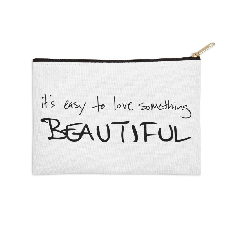 Hollow Lyric - Black Accessories Zip Pouch by Garrison Starr's Artist Shop