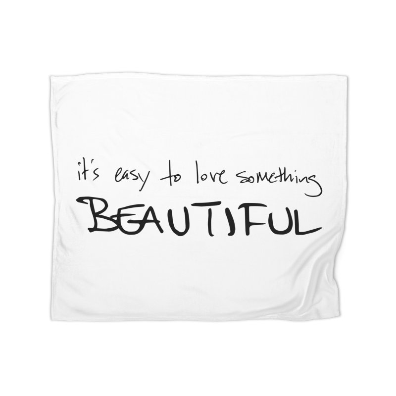 Hollow Lyric - Black Home Fleece Blanket Blanket by Garrison Starr's Artist Shop
