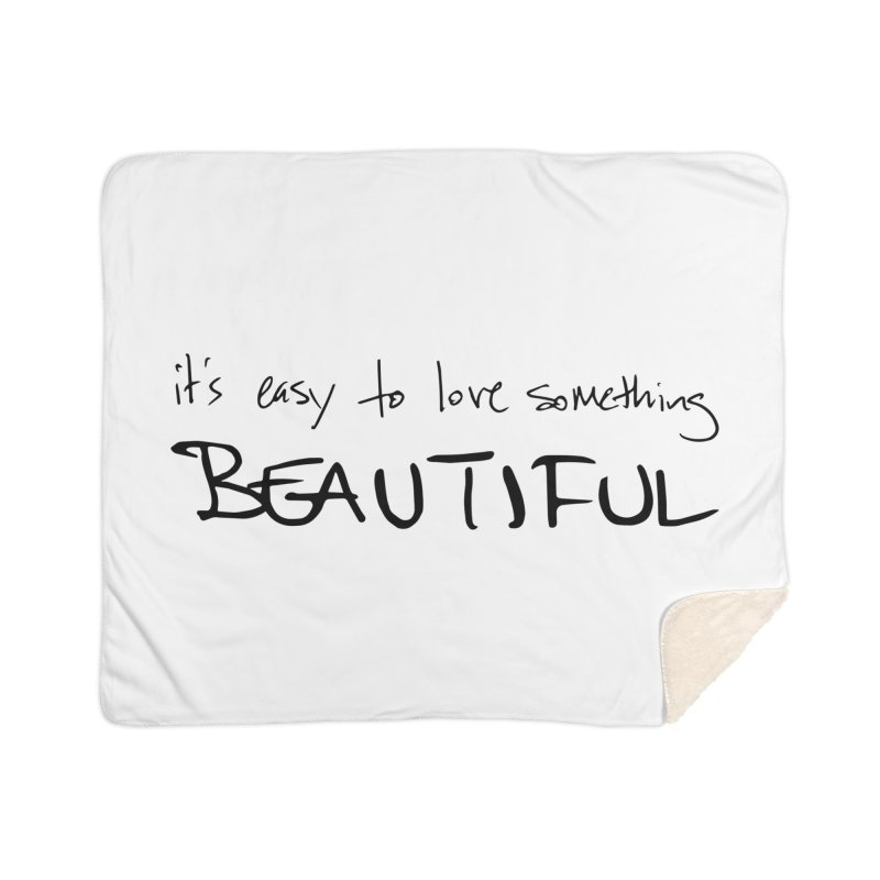 Hollow Lyric - Black Home Sherpa Blanket Blanket by Garrison Starr's Artist Shop