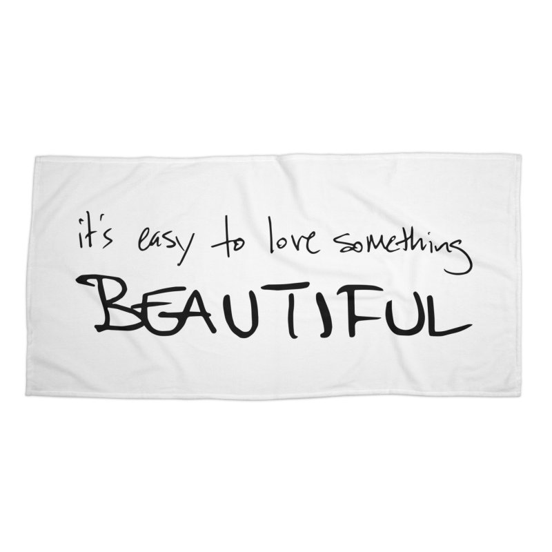 Hollow Lyric - Black Accessories Beach Towel by Garrison Starr's Artist Shop