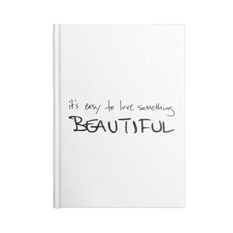 Hollow Lyric - Black Accessories Lined Journal Notebook by Garrison Starr's Artist Shop