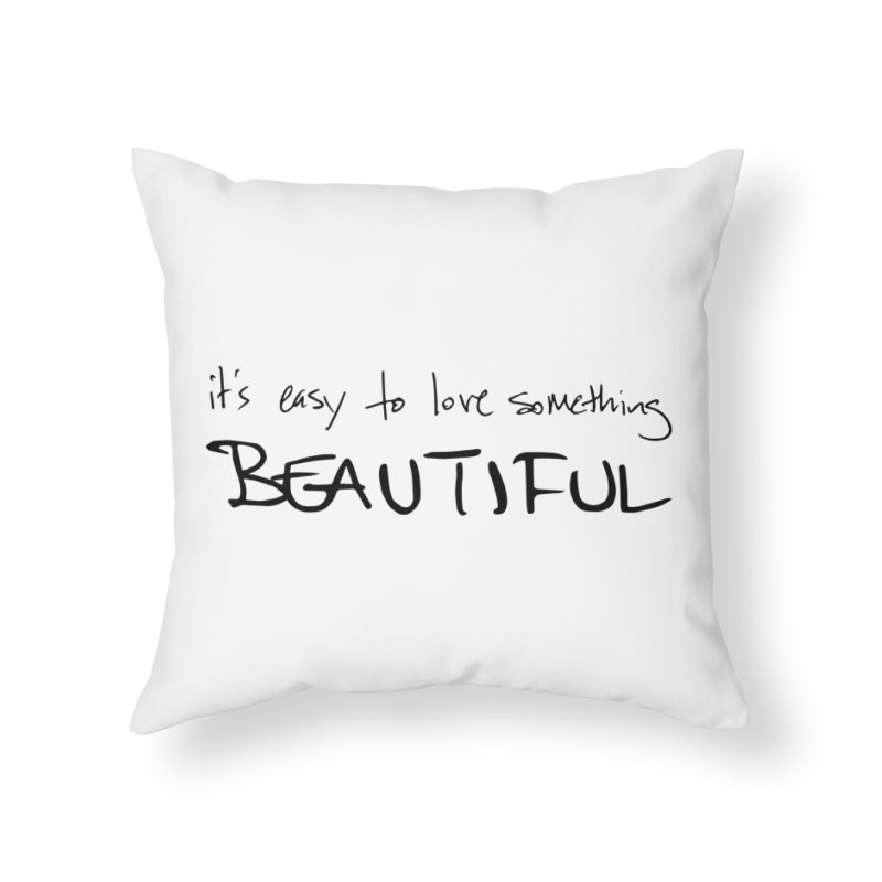 Hollow Lyric - Black Home Throw Pillow by Garrison Starr's Artist Shop