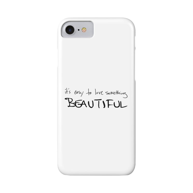 Hollow Lyric - Black Accessories Phone Case by Garrison Starr's Artist Shop