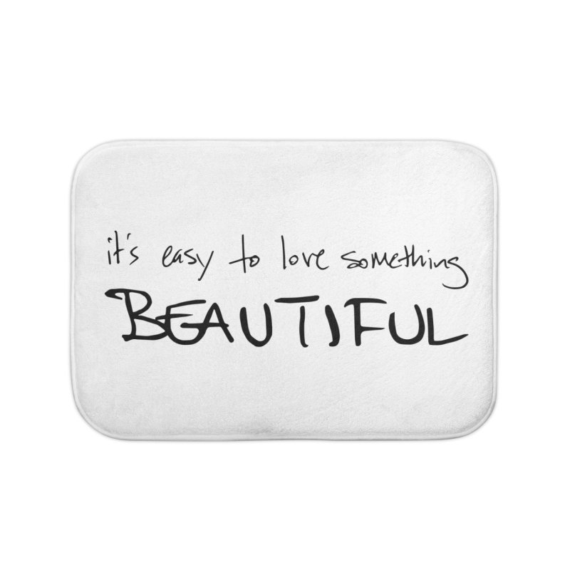 Hollow Lyric - Black Home Bath Mat by Garrison Starr's Artist Shop