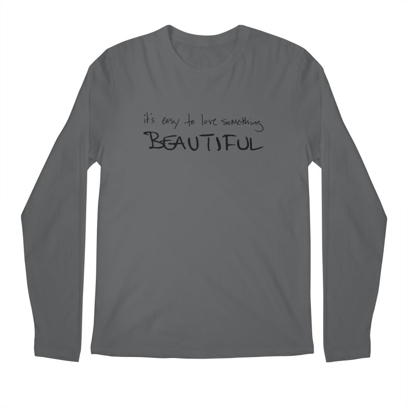 Hollow Lyric - Black Men's Longsleeve T-Shirt by Garrison Starr's Artist Shop