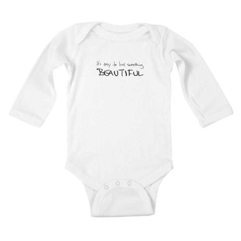 Hollow Lyric - Black Kids Baby Longsleeve Bodysuit by Garrison Starr's Artist Shop