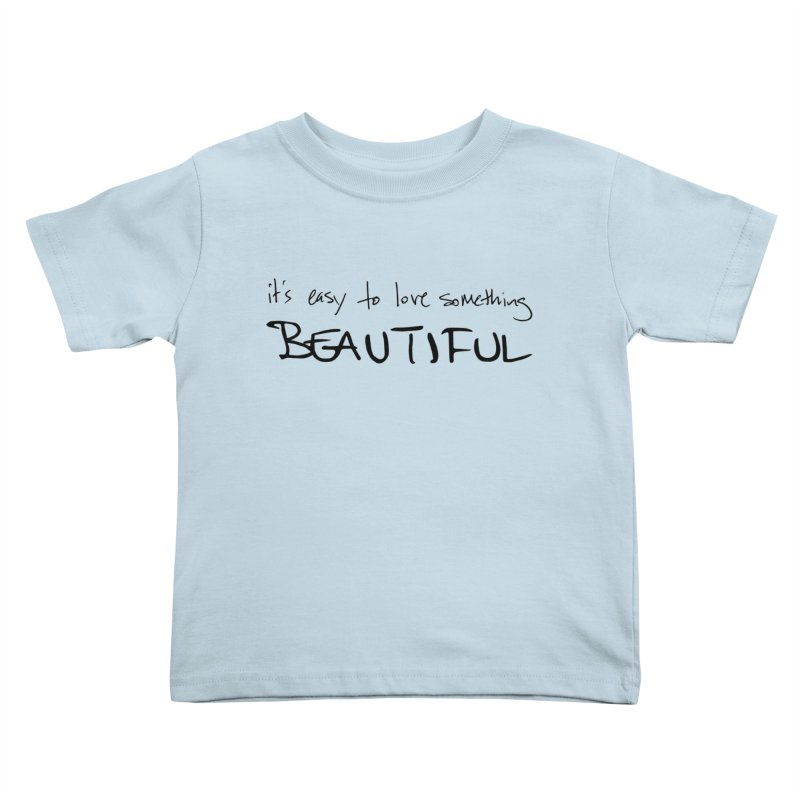 Hollow Lyric - Black Kids Toddler T-Shirt by Garrison Starr's Artist Shop