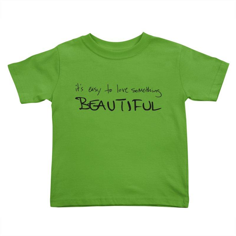 Hollow Lyric - Black Kids Toddler T-Shirt by Garrison Starr's Artist Shop
