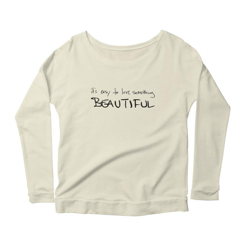 Hollow Lyric - Black Women's Scoop Neck Longsleeve T-Shirt by Garrison Starr's Artist Shop
