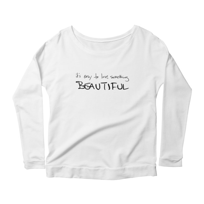 Hollow Lyric - Black Women's Scoop Neck Longsleeve T-Shirt by Garrison Starr's Artist Shop