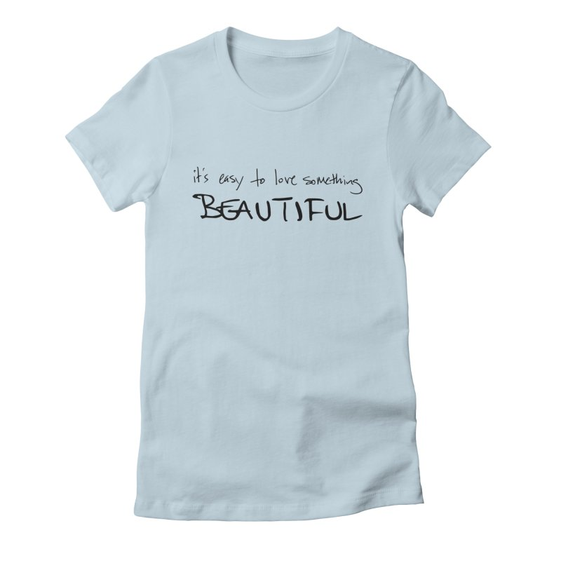 Hollow Lyric - Black Women's Fitted T-Shirt by Garrison Starr's Artist Shop