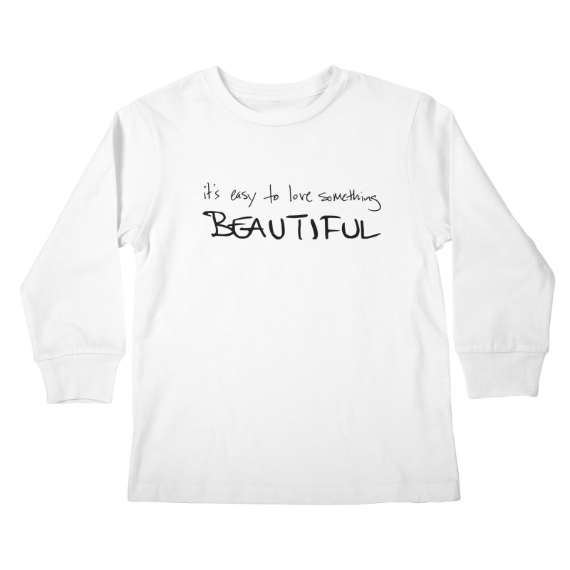 Hollow Lyric - Black Kids Longsleeve T-Shirt by Garrison Starr's Artist Shop