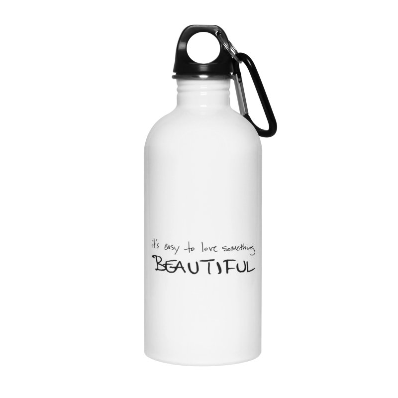 Hollow Lyric - Black Accessories Water Bottle by Garrison Starr's Artist Shop