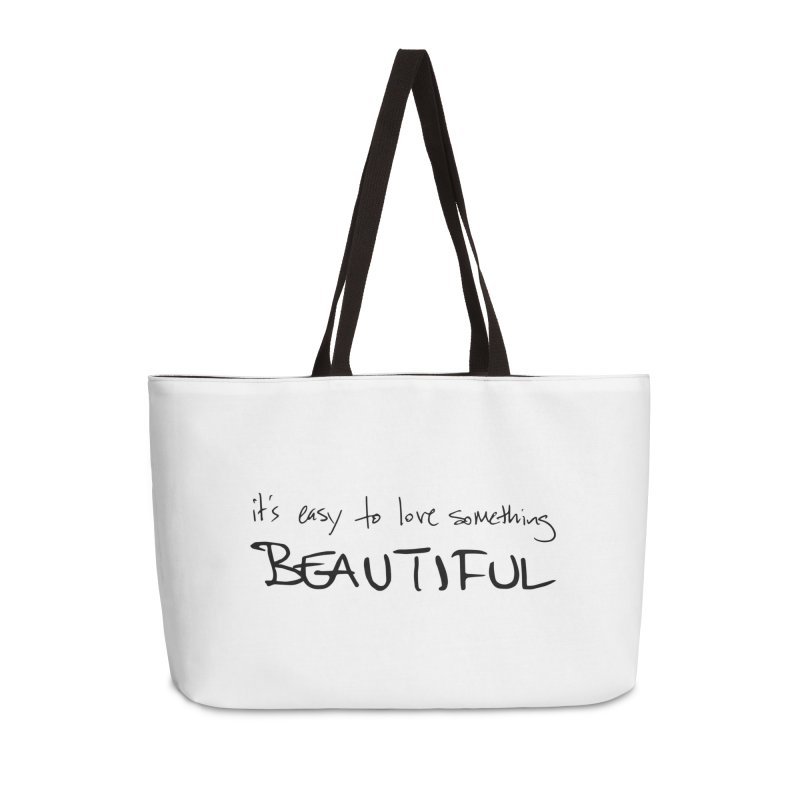 Hollow Lyric - Black Accessories Weekender Bag Bag by Garrison Starr's Artist Shop