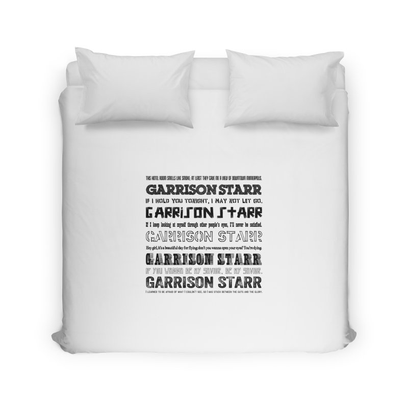 Multiple Lyrics Home Duvet by Garrison Starr's Artist Shop