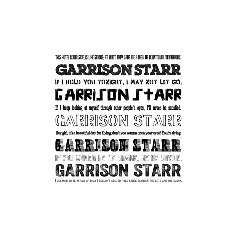 Multiple Lyrics by Garrison Starr's Artist Shop