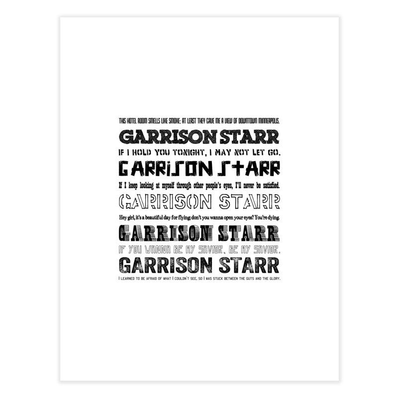 Multiple Lyrics Home Fine Art Print by Garrison Starr's Artist Shop