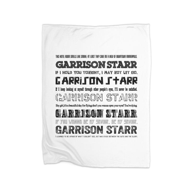 Multiple Lyrics Home Blanket by Garrison Starr's Artist Shop