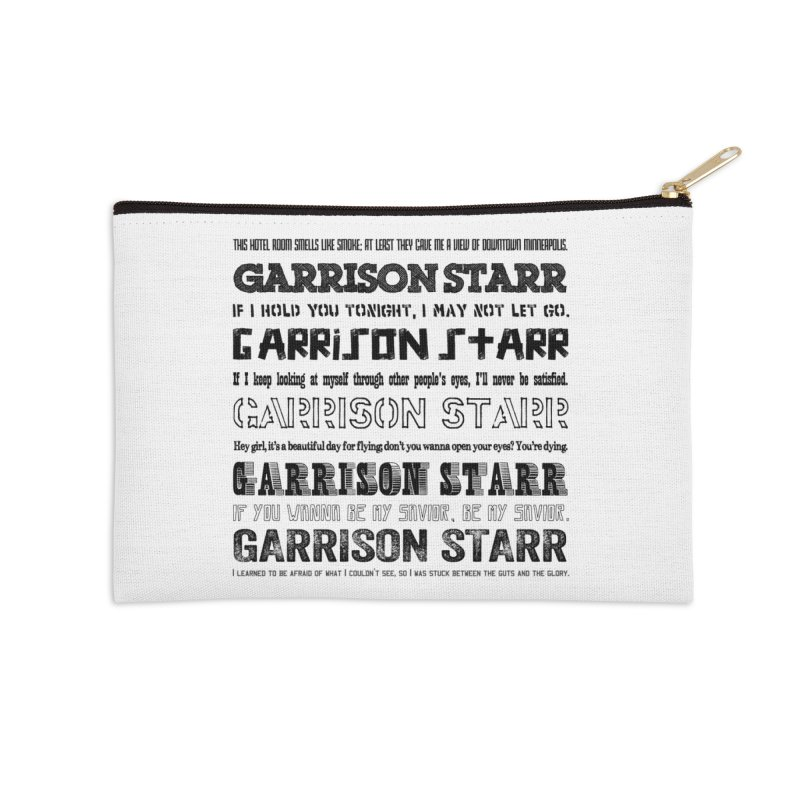 Multiple Lyrics Accessories Zip Pouch by Garrison Starr's Artist Shop
