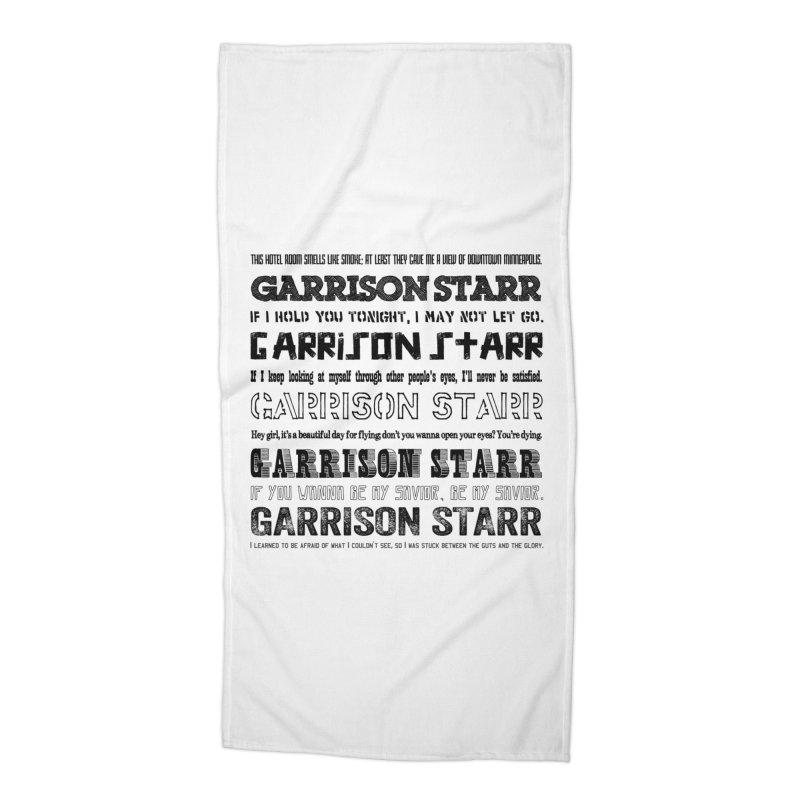 Multiple Lyrics Accessories Beach Towel by Garrison Starr's Artist Shop