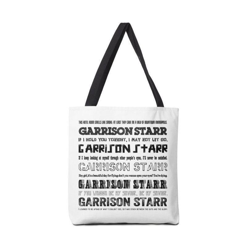 Multiple Lyrics Accessories Tote Bag Bag by Garrison Starr's Artist Shop