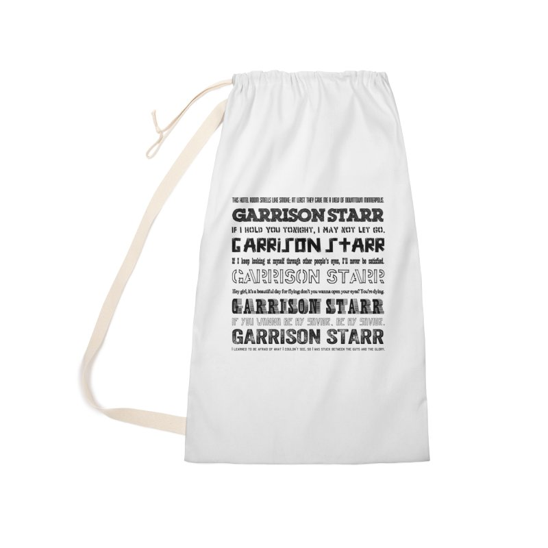 Multiple Lyrics Accessories Bag by Garrison Starr's Artist Shop