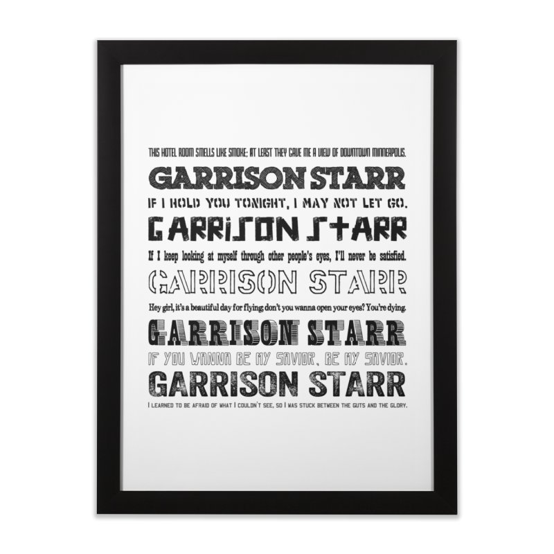 Multiple Lyrics Home Framed Fine Art Print by Garrison Starr's Artist Shop