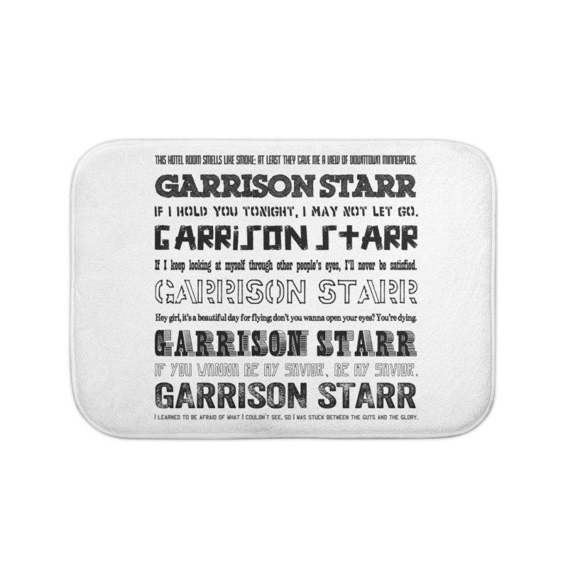 Multiple Lyrics Home Bath Mat by Garrison Starr's Artist Shop