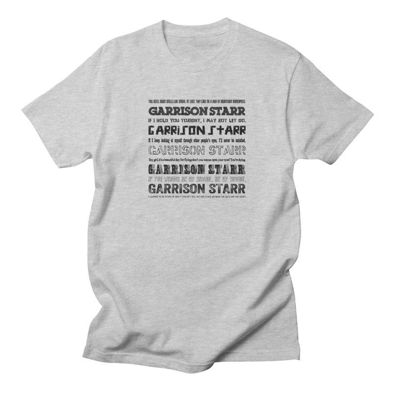 Multiple Lyrics Men's T-Shirt by Garrison Starr's Artist Shop
