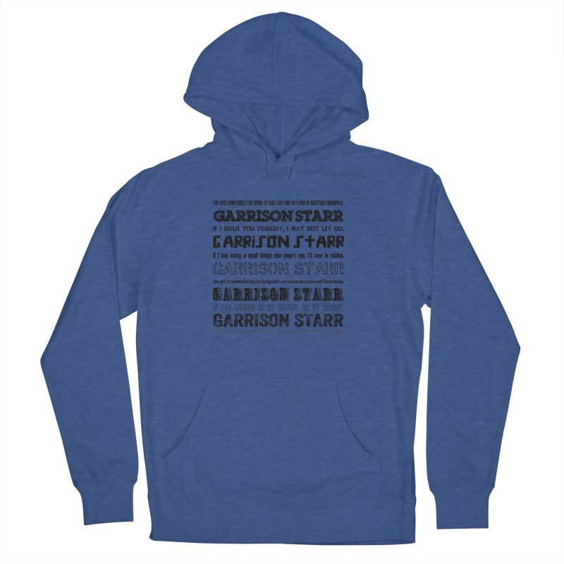 Multiple Lyrics Women's French Terry Pullover Hoody by Garrison Starr's Artist Shop