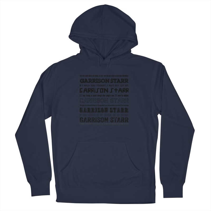 Multiple Lyrics Men's French Terry Pullover Hoody by Garrison Starr's Artist Shop