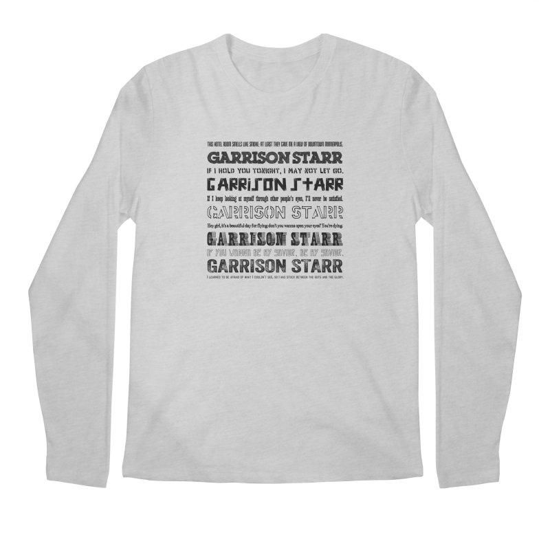 Multiple Lyrics Men's Longsleeve T-Shirt by Garrison Starr's Artist Shop
