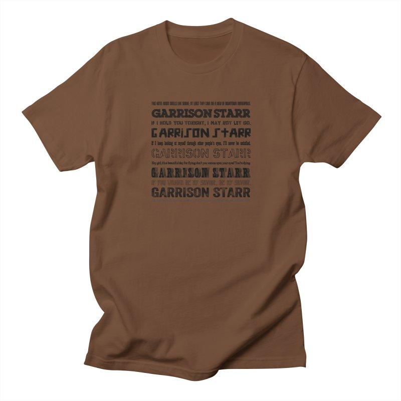 Multiple Lyrics Women's Unisex T-Shirt by Garrison Starr's Artist Shop