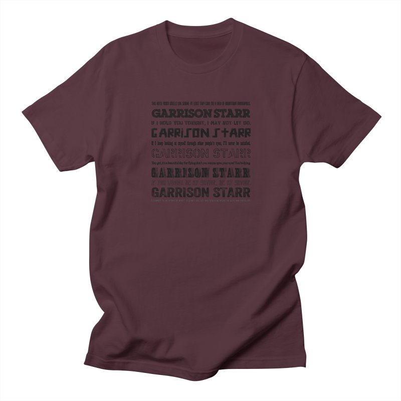 Multiple Lyrics Men's T-Shirt by Garrison Starr's Artist Shop