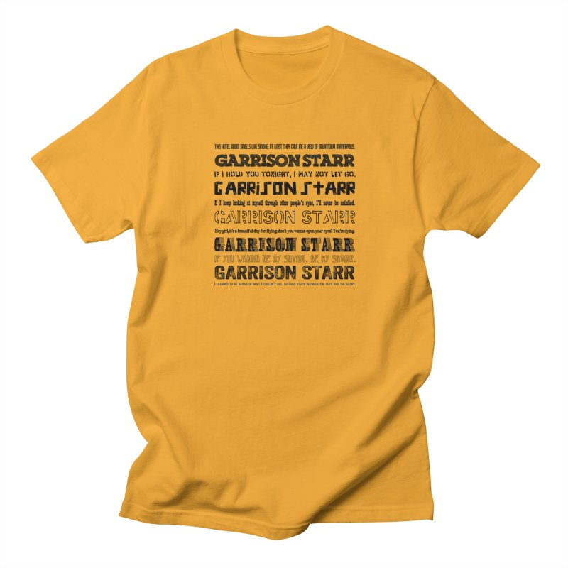 Multiple Lyrics Women's Regular Unisex T-Shirt by Garrison Starr's Artist Shop