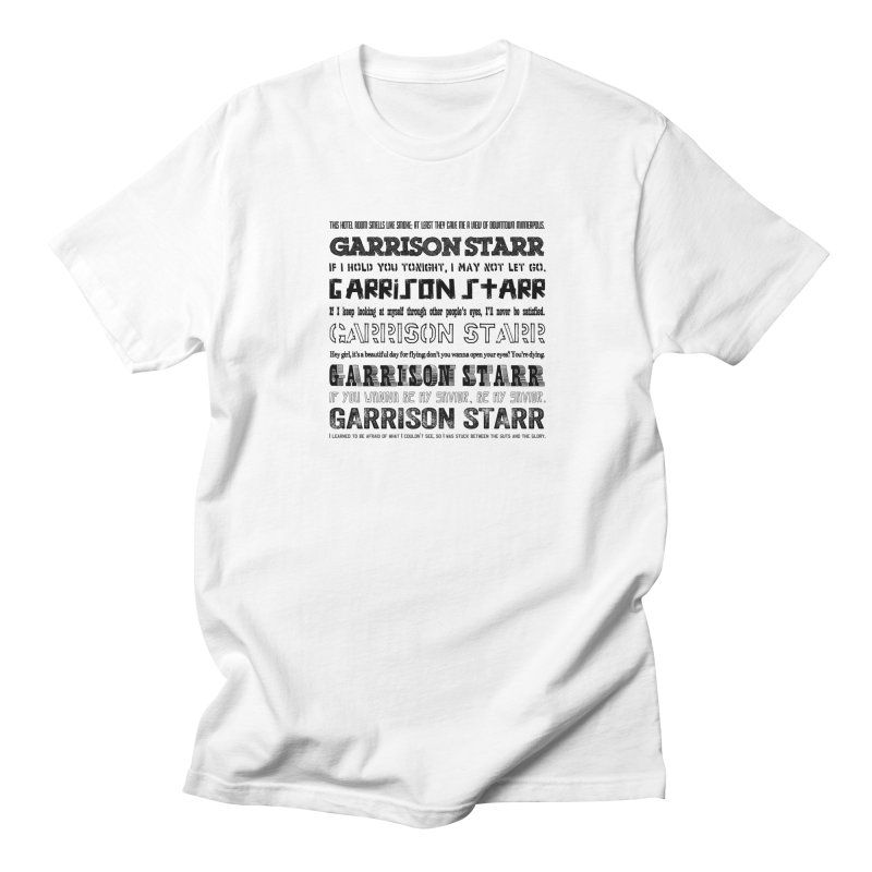 Multiple Lyrics Men's Regular T-Shirt by Garrison Starr's Artist Shop