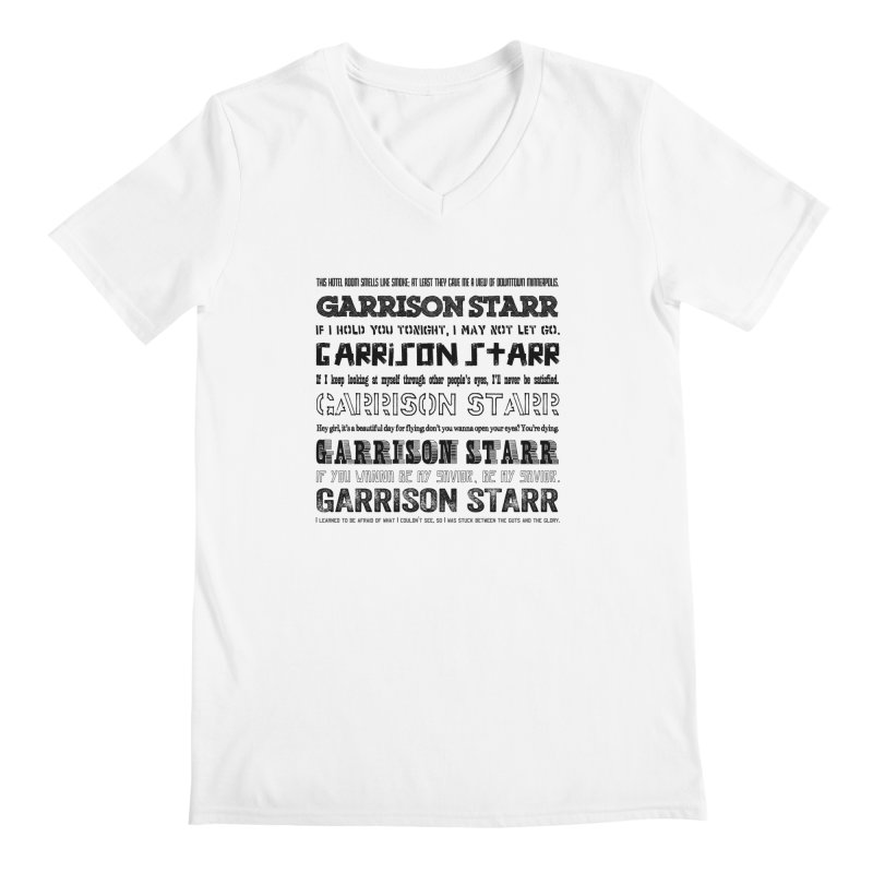 Multiple Lyrics Men's Regular V-Neck by Garrison Starr's Artist Shop