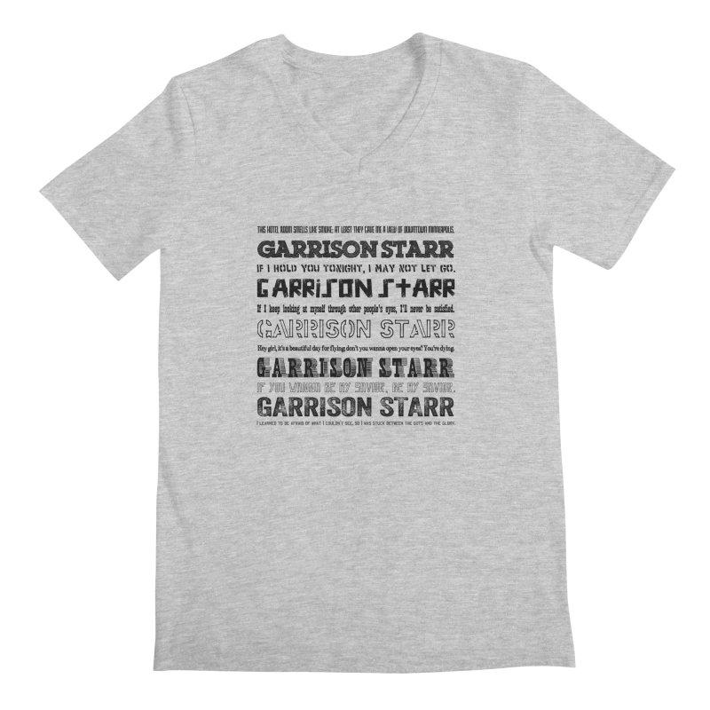 Multiple Lyrics Men's Regular V-Neck by Garrison Starr's Artist Shop