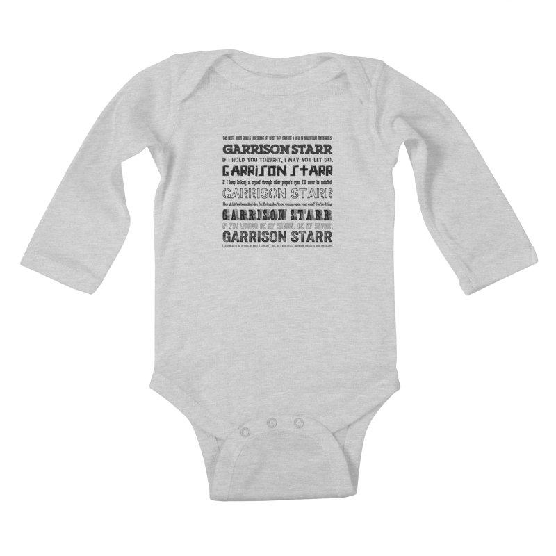 Multiple Lyrics Kids Baby Longsleeve Bodysuit by Garrison Starr's Artist Shop