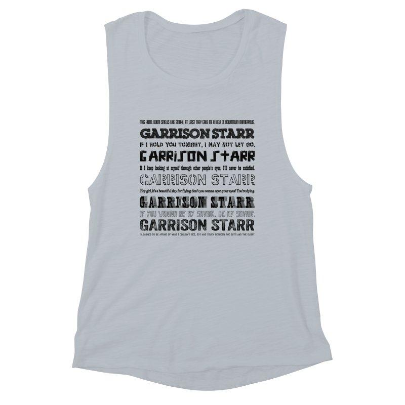 Multiple Lyrics Women's Muscle Tank by Garrison Starr's Artist Shop