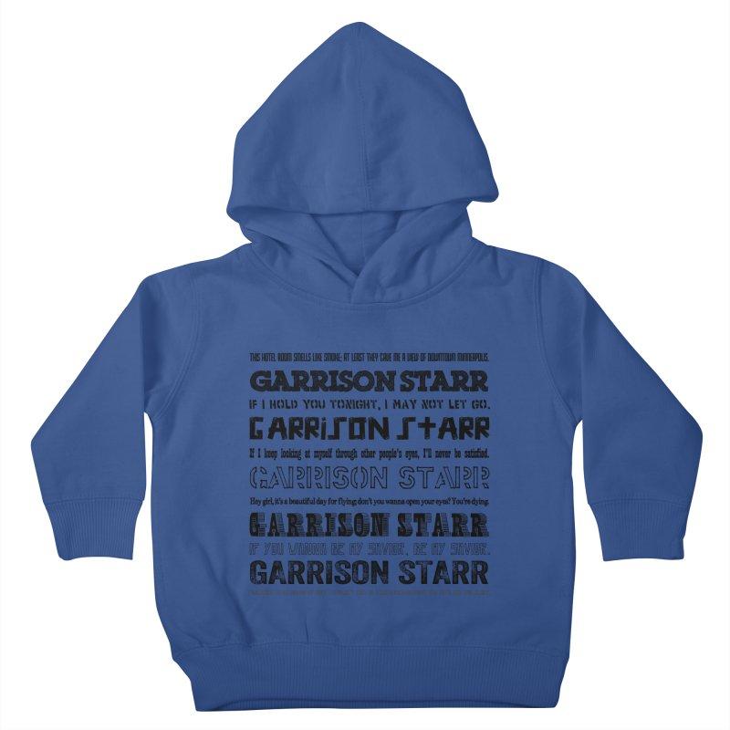 Multiple Lyrics Kids Toddler Pullover Hoody by Garrison Starr's Artist Shop
