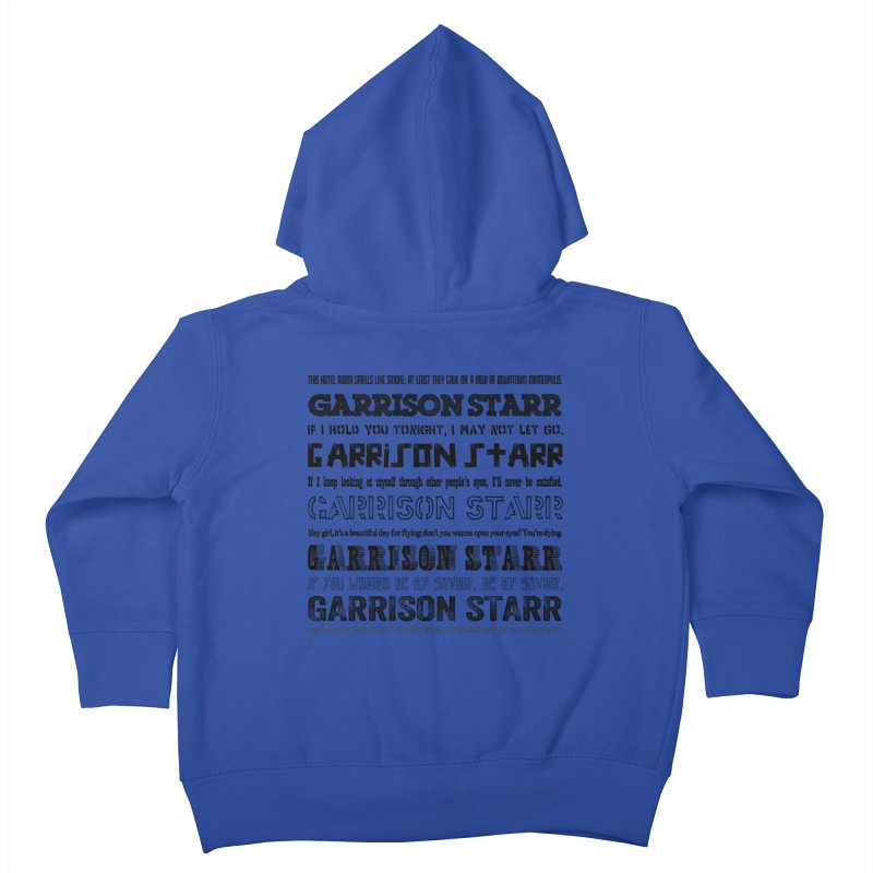 Multiple Lyrics Kids Toddler Zip-Up Hoody by Garrison Starr's Artist Shop
