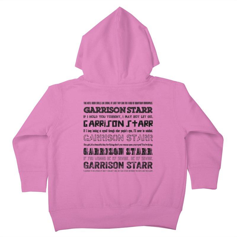 Multiple Lyrics Kids Toddler Zip-Up Hoody by Garrison Starr's Artist Shop