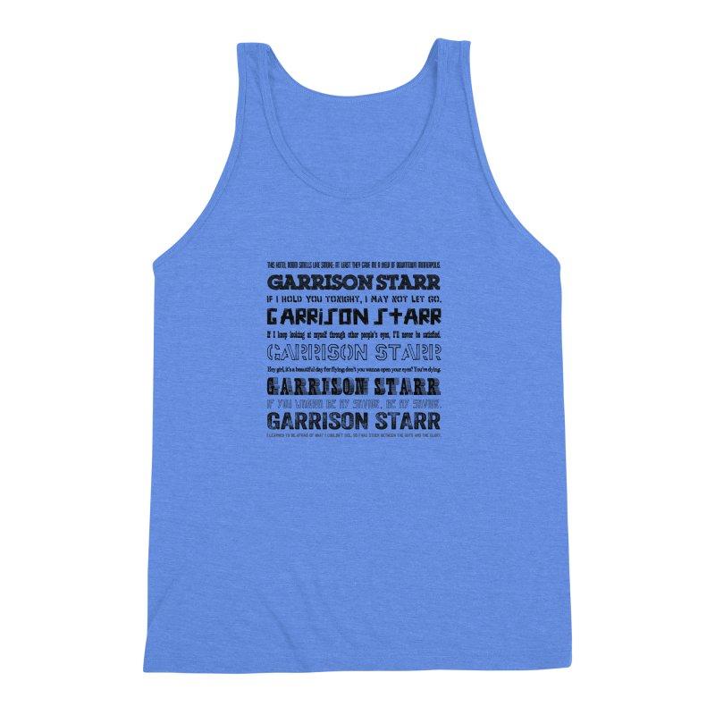 Multiple Lyrics Men's Triblend Tank by Garrison Starr's Artist Shop