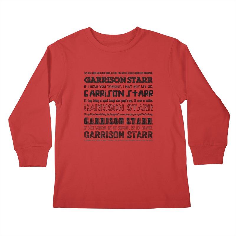 Multiple Lyrics Kids Longsleeve T-Shirt by Garrison Starr's Artist Shop