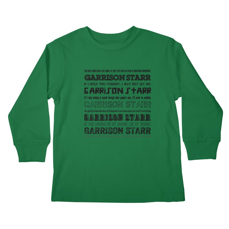 Multiple Lyrics Kids Longsleeve T-Shirt by Garrison Starr's Artist Shop
